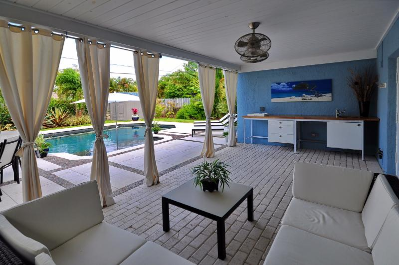 Large Saltwater Pool & Shaded Seating Area